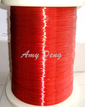 100 meters/lot  0.7mm red new polyurethane enamelled wire copper wire QA-1-130 2UEW per meter for sale