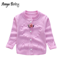 AmyaBaby 2017 New Autumn Winter Baby Sweater Kids Girls Cardigans Long Sleeve Casual Winter Sweater Newborn