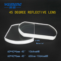 Weimeng Raytools 45 degree laser reflection lens / reflective mirror 60*42*6mm H K9L plano for cuting welding engraving machine