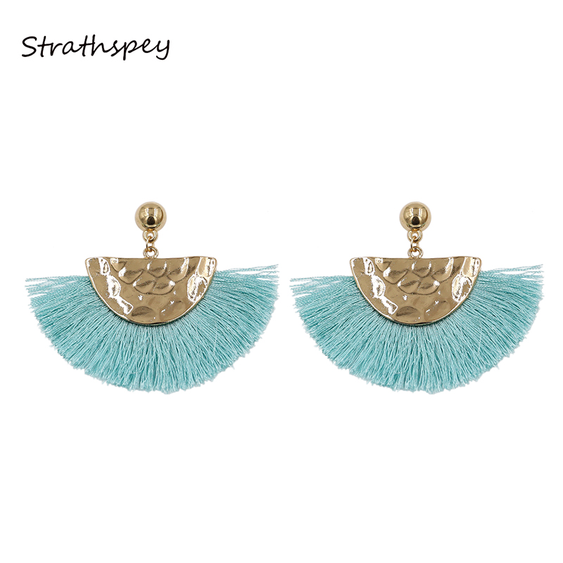 Bright Strathspey Diy Geometry Half Moon Wooden Earrings For Women Bohemia Vintage Stud Earring Statement Jewelry Personalized Gift Jewelry & Accessories
