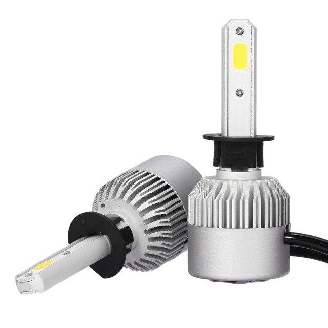 2pcs H1 Car COB LED Xenon Conversion Headlight Bulb Kit high Beam Light DRL  360 Degree 72W 7200LM 6500K DC 12V 24V