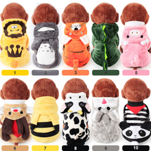 Pet Clothes Warm Dog Coat Winter Animal Cartoon Hooded clothing Coral Fleece Autumn And XS-XL