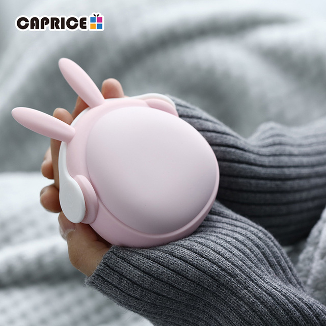 Cute Handwarmer Mini Hand Warmers for Girls Termofor Gumowy Portable Pocket Power Bank 6000mAh Battery Rechargeable WT W6
