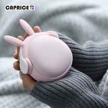 Sevimli el isıtıcı Mini el isıtıcıları kızlar için Termofor Gumowy taşınabilir cep güç banka 6000mAh pil şarj edilebilir WT W6