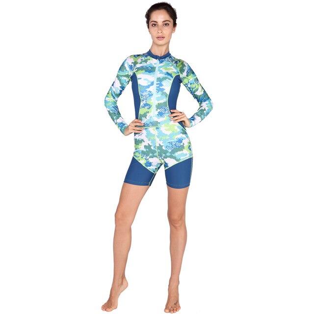 d139c885a Sabolay una sola pieza las mujeres rashguard Swim Camisas elástico Rash  guards ropa bañadores rashguard surf