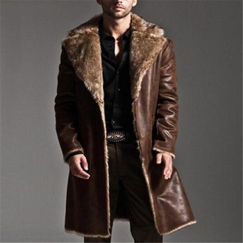 2017 Winter Reversible men's overcoat Faux Fur Coat Jackets Full Length Parka Coats erkek mont casaco masculino plus size S-7XL