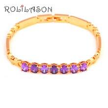 Royal Design Luxury Style Purple AAA Zirconia Gold Tone Love Gifts Zircon Fashion Jewelry for Women