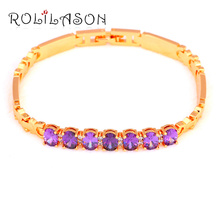 Royal Design Luxury Style Purple AAA Zirconia  Gold Tone Love Gifts Zircon Fashion Jewelry for Women TB1041