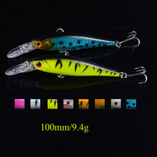 8 color 10cm /9.4g Isca Artificial Pesca Fishing Lure Minnow Hard Bait with 2 Fishing Hooks crankbait Fishing Tackle Lure 3D Eye