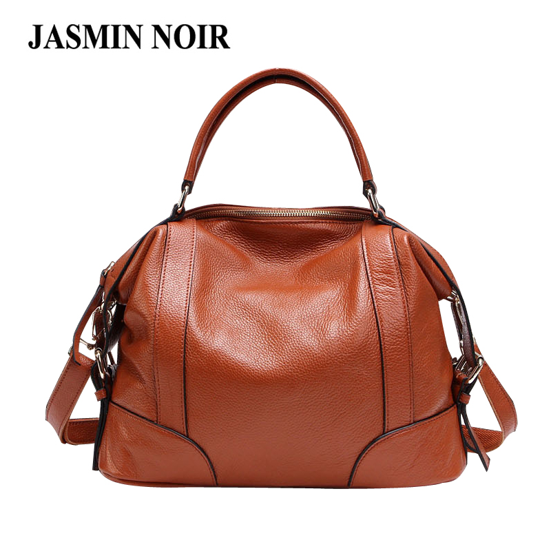 Vintage New Boston Genuine Leather Women Handbag Simple Female Designer Shoulder Crossbody Bag Dress Large Tote Bag for Ladies 2018 new style genuine leather woman handbag vintage metal ring cloe shoulder bag ladies casual tote fashion chain crossbody bag
