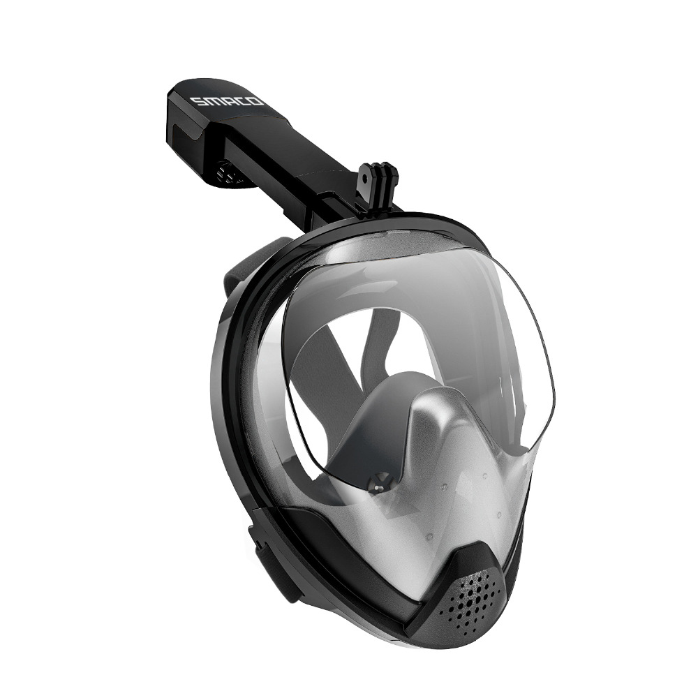 SMACO D'origine Tuba Masque Plein Visage Plongée masque de plongée 180 Degrés Vue Snorkeling Lunettes Sec Top Ensemble Anti-brouillard Pour enfants Adultes