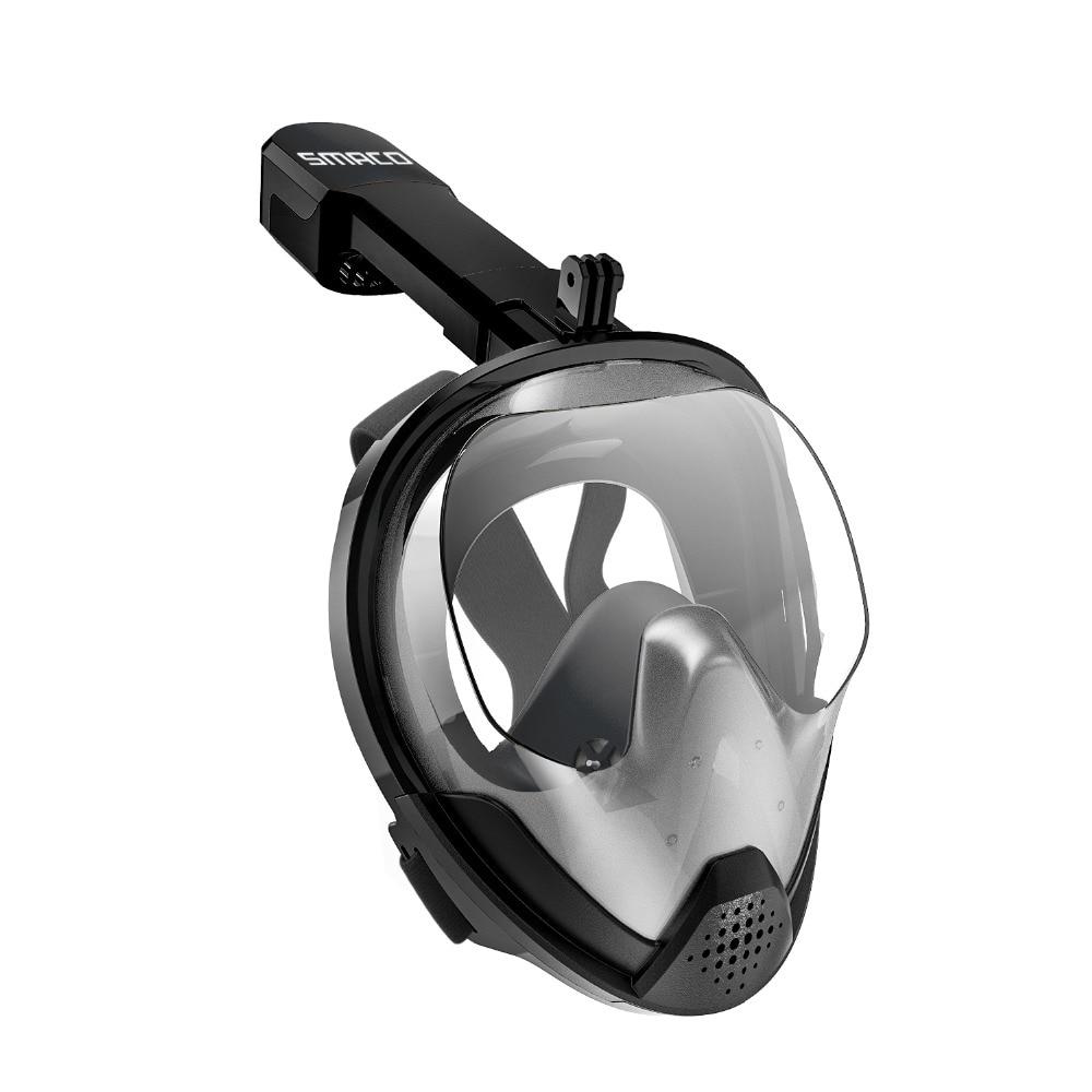 SMACO D'origine Tuba Masque Plein Visage Plongée sous-marine Masque 180 Degrés Vue Snorkeling Lunettes Sec Top Ensemble Anti-brouillard pour les Enfants Adultes