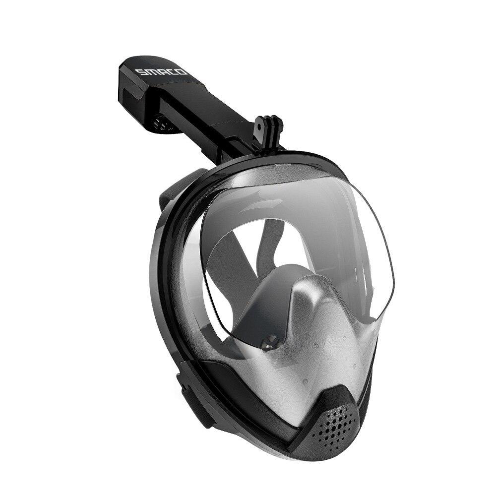 SMACO Original Schnorchel Maske Volle Gesicht Scuba Tauchen Maske 180 Grad Ansicht Schnorcheln Goggle Trocken Top Set Anti-nebel für Kinder Erwachsene