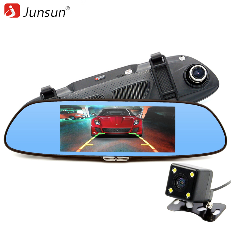 Car Camera 6.5 inch Car DVR Dual Lens Review Mirror HD 720P Digital Video Recorder Registrator Camcorder Dashcam 2 7 inch r310 tft lcd dual 2 lens car dvr video recorder