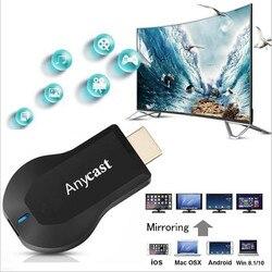 2019 AnyCast M9 plus TV stick miracast Airplay HD 1080P bezprzewodowa bezprzewodowy odbiornik i odtwarzacz plików multimedialnych klucz HDMI TV stick|Dongle smart TV|Elektronika użytkowa -