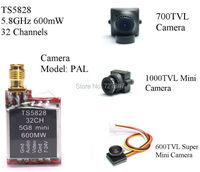 5 8GHz 600mW 32 Channels Mini Wireless A V Transmitting TX TS5828 600TVL 700TVL 1000 TVL