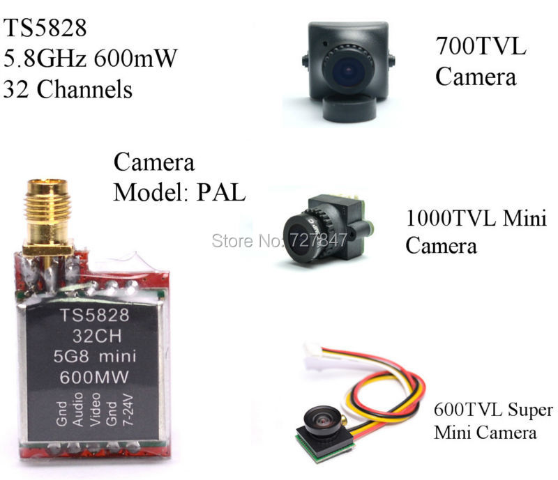 1000TVL FPV Camera TS5828 600mW Transmitter Module Wireless Portable Automatic