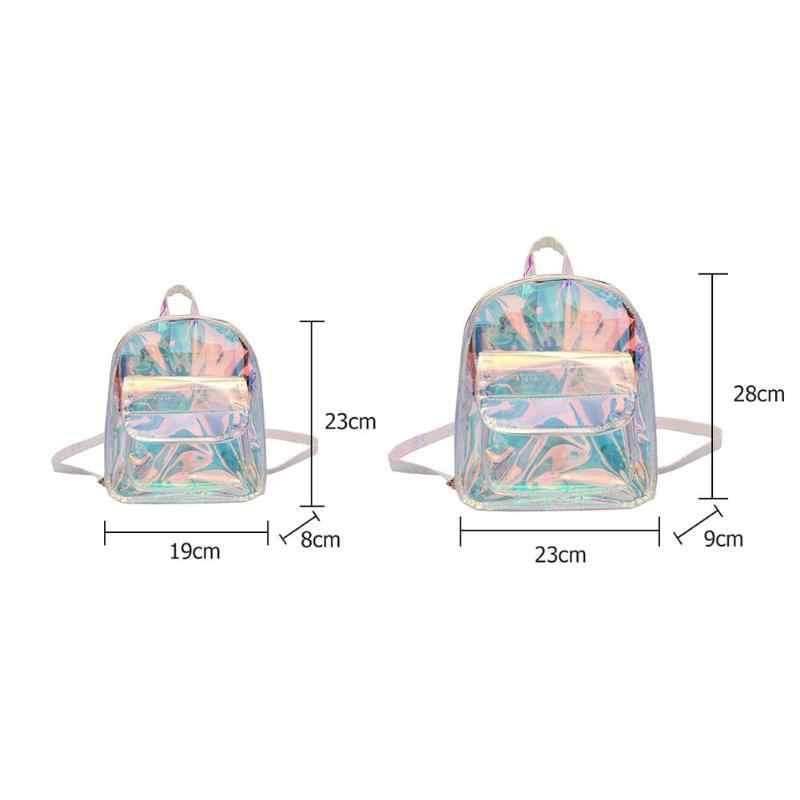 Mochila transparente de moda Herald para mujer, de calidad, de PVC, Mini bolsa transparente para estudiante, bolso escolar Harajuku, Mochila pequeña holográfica