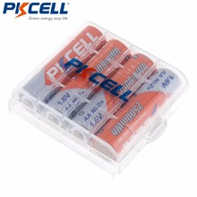 PKCELL 4 шт. Ni Zn 2500mWh Bateria AA батареи 1,6 в никель Цинк AA аккумуляторная батарея + 1 шт. Аккумулятор для хранения жестких футляров