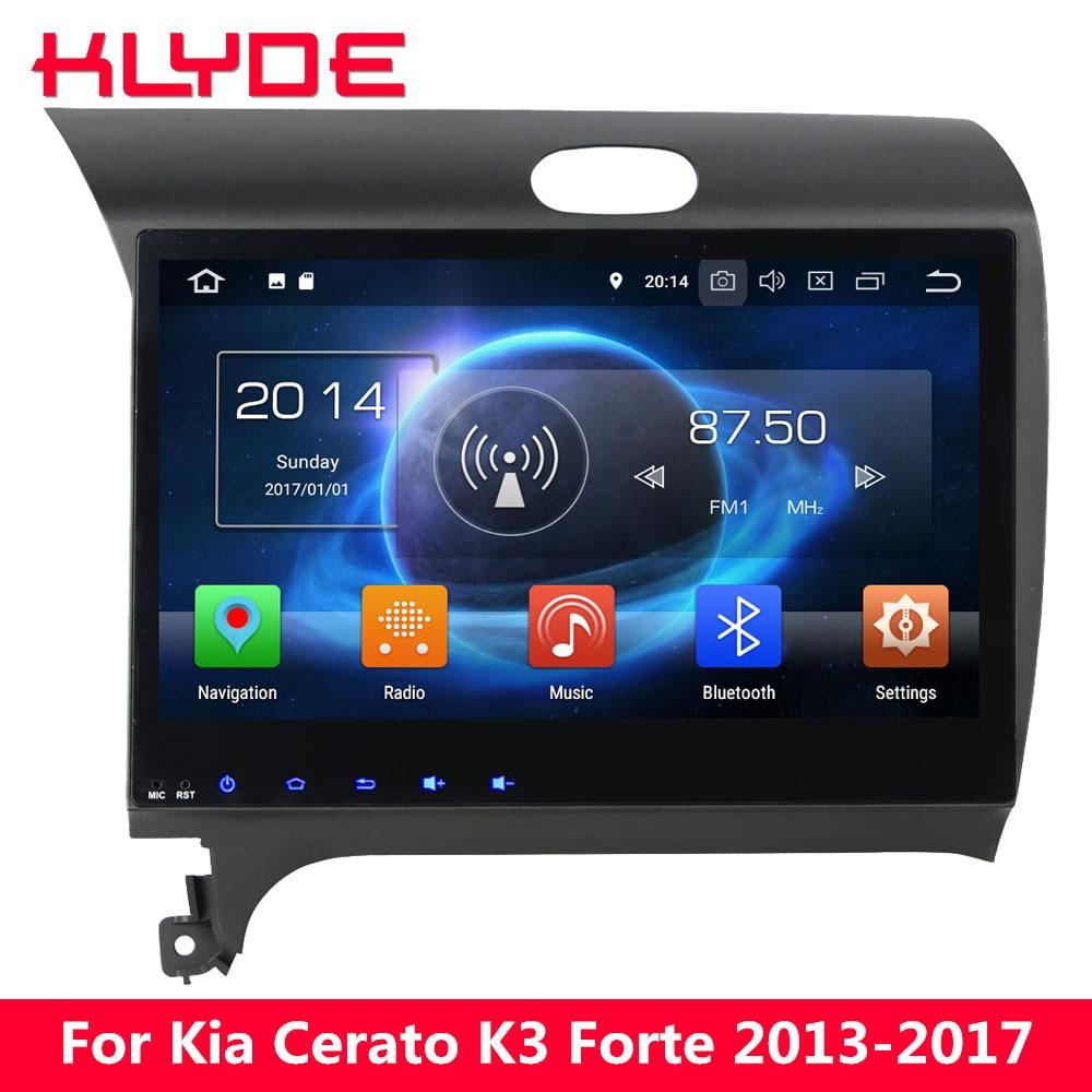 KLYDE 10,1 Octa Core 4G Android 8,0 7,1 4G B + 32 ГБ DVD мультимедиа плеер gps для kia K3 Cerato Forte 2013 2014 2015 2016 2017