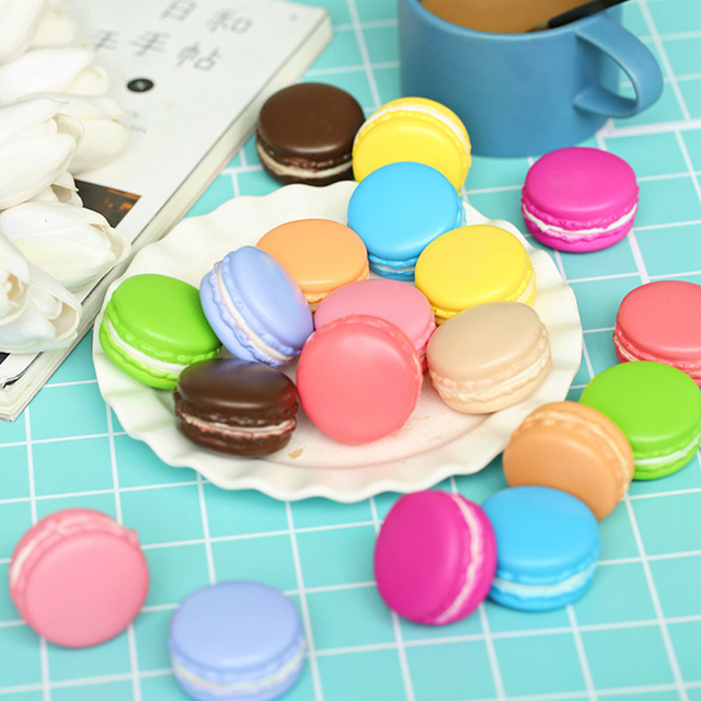 2pcs/lot 5cm Macarons Simulated Bread INS Photography Props for Foods Baking photography Accessories Background DIY Decoration