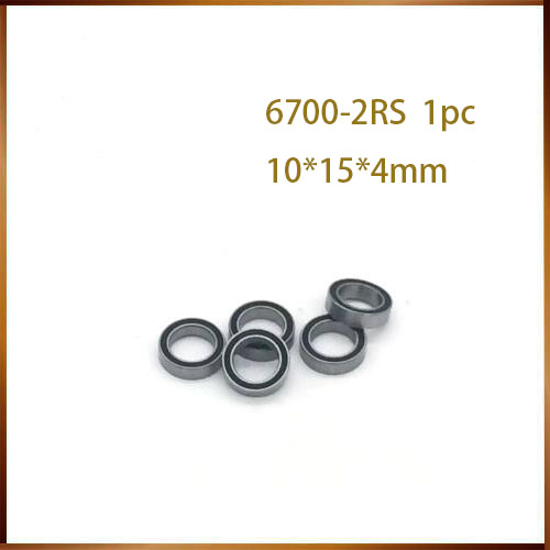 <font><b>6700rs</b></font> Hybrid Ceramic Bearing 10*15*4 mm ABEC ( 1 PC) Industry Motor Spindle <font><b>6700RS</b></font> Hybrids Si3N4 Ball Bearings <font><b>6700RS</b></font> image