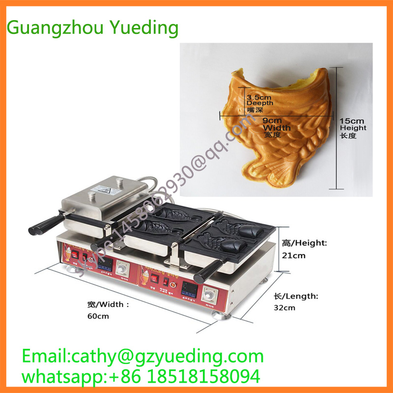 Digital ice cream taiyaki machinery/taiyaki machine manufacturers/fish making machine