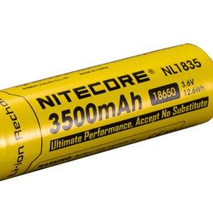 Image 3 - Nitecore bateria li on recarregável, 18650 3500mah nl1835 3.6v 9.6wh, botão de íon de lítio protegido, bateria superior