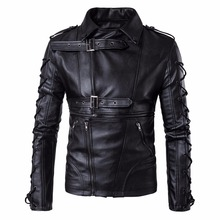 Top Quality Men Motorcycle Leather Jackets Male Spring Autumn Winter Black Coats Fashion Slim Business Casual Tops Coats Jacket