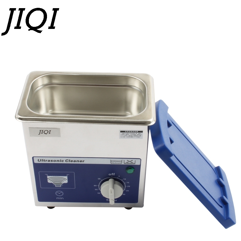 JIQI 80 w mały ultradźwiękowy przyrząd do czyszczenia zegar 0.7L 40 KHZ dla gospodarstwa domowego okulary biżuteria Dental Watch szczoteczki do zębów narzędzie do czyszczenia w Myjki ultradźwiękowe od AGD na title=