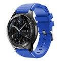 Nuevo diseño de goma de silicona pulsera correa reloj band para samsung gear s3 frontera alta calidad correa de reloj band reemplazo