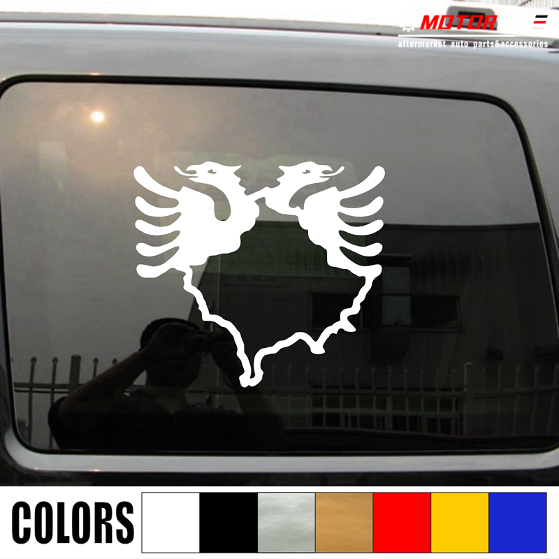 Kosovo Map Albania Double Headed Eagle Decal Sticker Car Vinyl pick size color b-in Car Stickers from Automobiles & Motorcycles