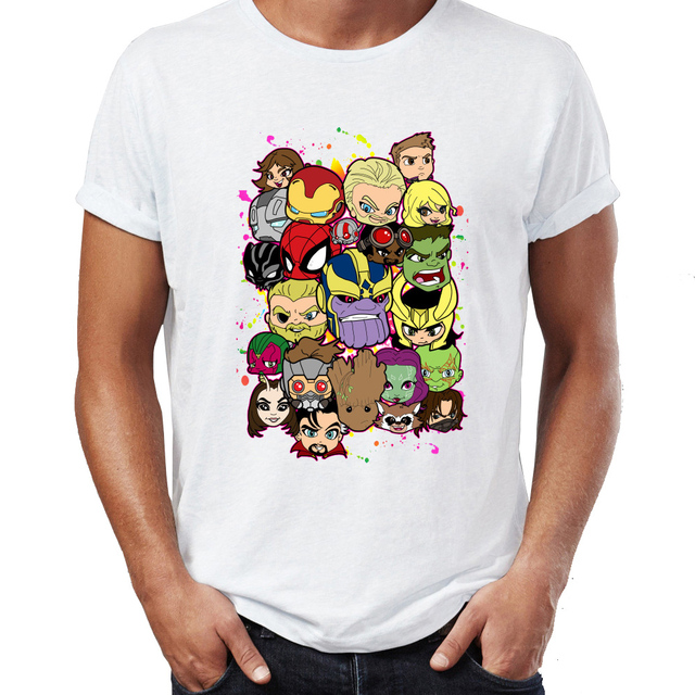 T-shirt Personnages Avengers Infinity Wars