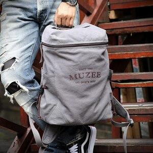 Image 3 - Muzee sac à dos en toile pour hommes, sacoche pour livres pour étudiants, grande capacité, sac à dos de voyage à la mode, Mochila mâle, nouvelle collection