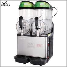 XEOLEO двухтанковая машина 12 л* 2 из нержавеющей стали, машина для таяния снега 220 В, машина для мороженого, дозатор холодных напитков