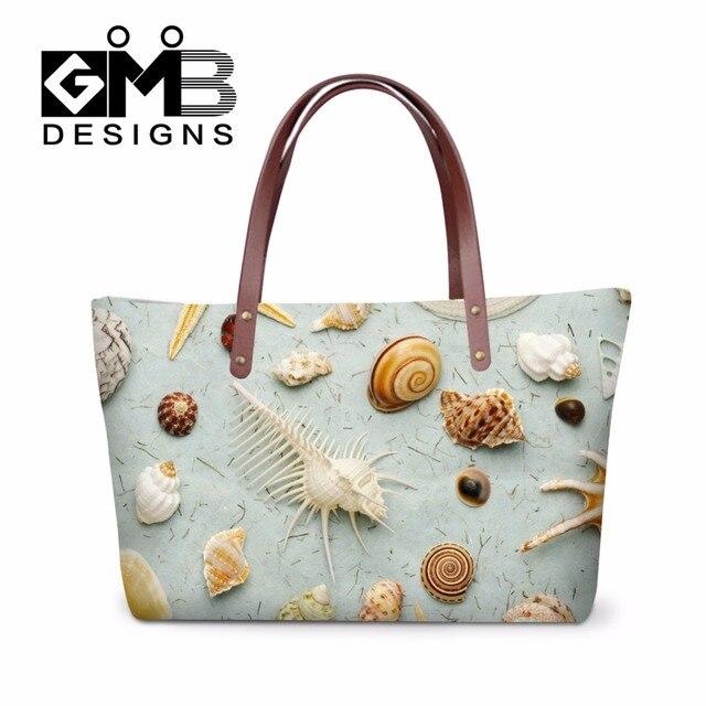 364d3de85e5ec Dispalang tasarım kabuk baskılar kadın rahat plaj çantası moda bayan toptan  ucuz çanta üst kolu omuz
