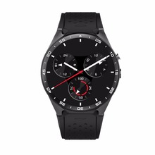 KING-WEAR KW88 Inteligente Reloj Del Ritmo Cardíaco Del Podómetro Dispositivo anti-perdida Para Android 5.1 OS Soporte Wifi Negro Deslustre/negro Oro