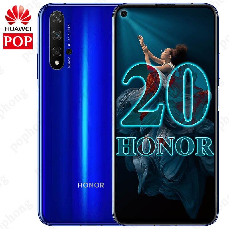 Original Huawei honor 20 8GB 128GB Mobile phone 6 26 inch Kirin 980 Octa Core Android