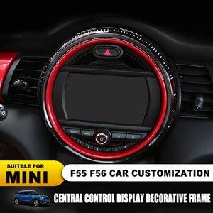 Image 2 - استبدال إطار عرض ملصق غطاء لسيارات BMW Mini كوبر F55 F56 سيارة مركز التحكم الشاشة اكسسوارات الإطار Jcw السيارات يغطي