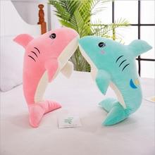 New Style Cartoon Cute Shark Short Plush Toys Stuffed Animal Doll Toy Pillow Children & Kids Birthday Gift