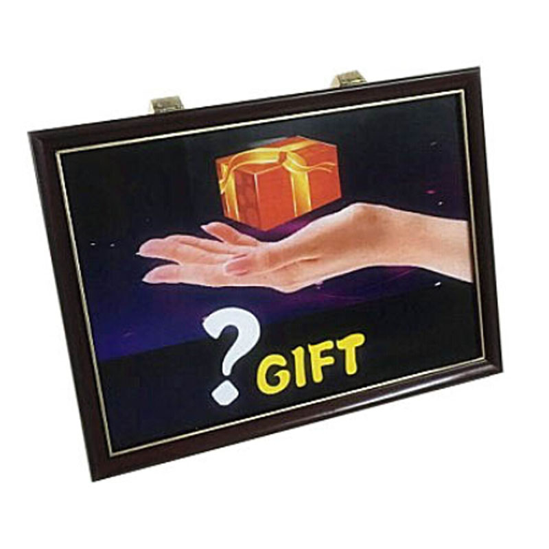 4D Gift Board Trick Magic Tricks Comedy Stage Take Gift box from Frame Picture Gimmick Props Accessories Professional Magician in Magic Tricks from Toys Hobbies