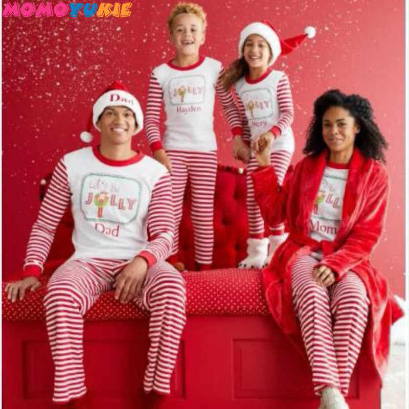 461a948ea4 2018 Family Matching Christmas Pajamas PJs Sets Kids Adult Xmas Sleepwear  Nightwear Clothing family casual Santa