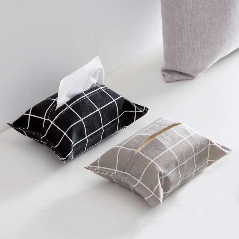 1 peças De Linho Capa Saco de Guardanapo de Papel Caixa de Tecido Em Casa Cozinha Sala de estar Tecido Caixas Titular GQ999