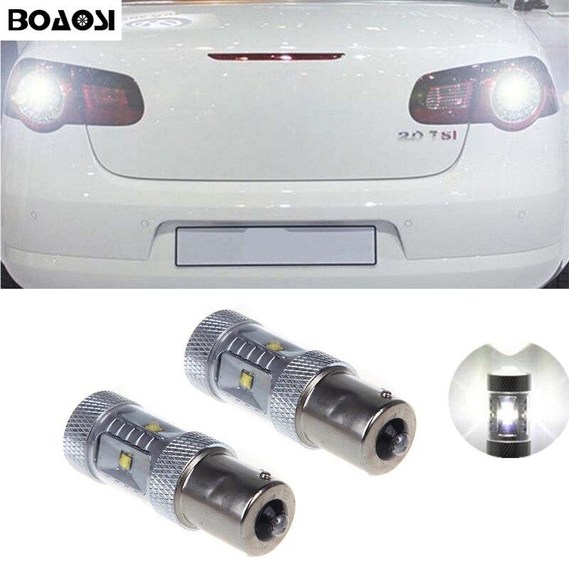 BOAOSI 2x 1156 30W Cree Chips LED Rear Reversing Tail Light Bulb For VW jetta Passat B1 B2 B4 B3 B5 B6 T4 T5