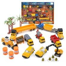 Boy Kids toys Construction car toys Diecast metal Engineering car vehicles Building Excavator bulldozer toys Diecast car model