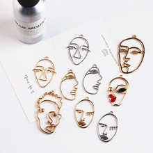 DIY alloy jewelry accessories and creative funny interesting face earrings material Necklace Pendant