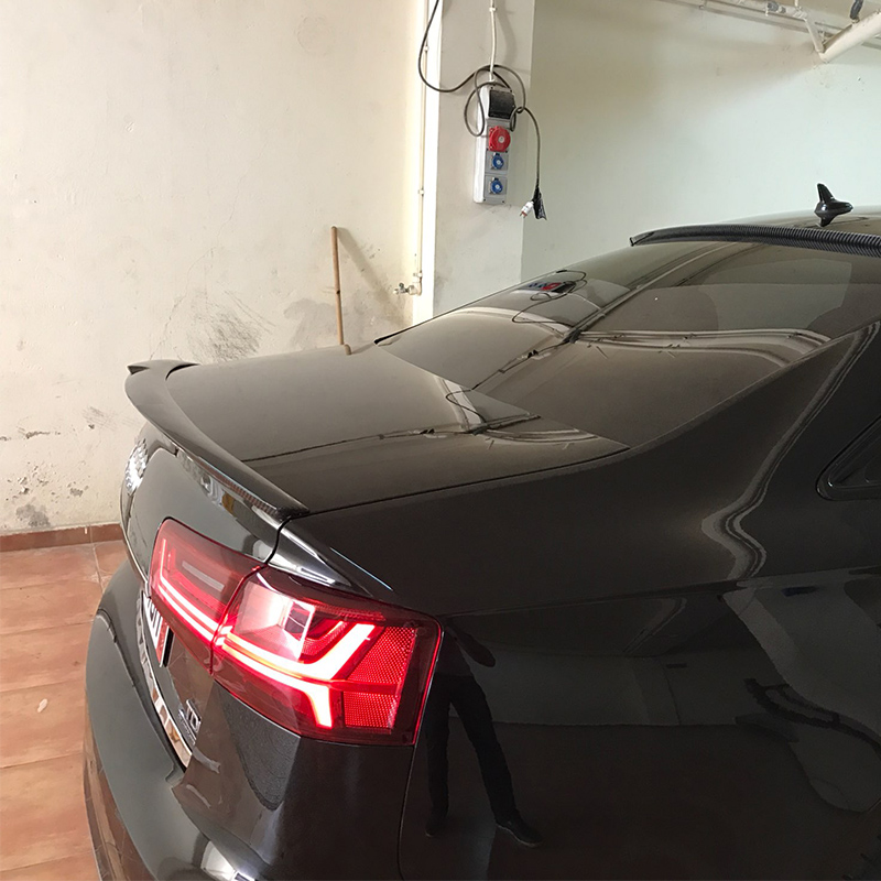 A6 C7 Modified M4 Style Carbon Fiber Rear Trunk Lip Spoiler Car Wing for Audi A6 C7 2012 2013 2014 2015 pu rear wing spoiler for audi 2010 2011 2012 auto car boot lip wing spoiler unpainted grey primer