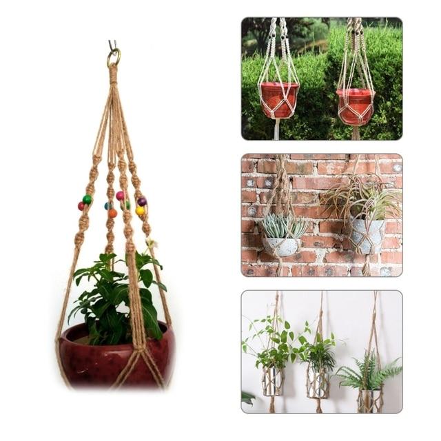 Vintage Garden Rope Basket Macrame Plant Hanger Flower Pot Hanging Holder Tool Garden Supplies Planters  sc 1 st  AliExpress & Vintage Garden Rope Basket Macrame Plant Hanger Flower Pot Hanging ...