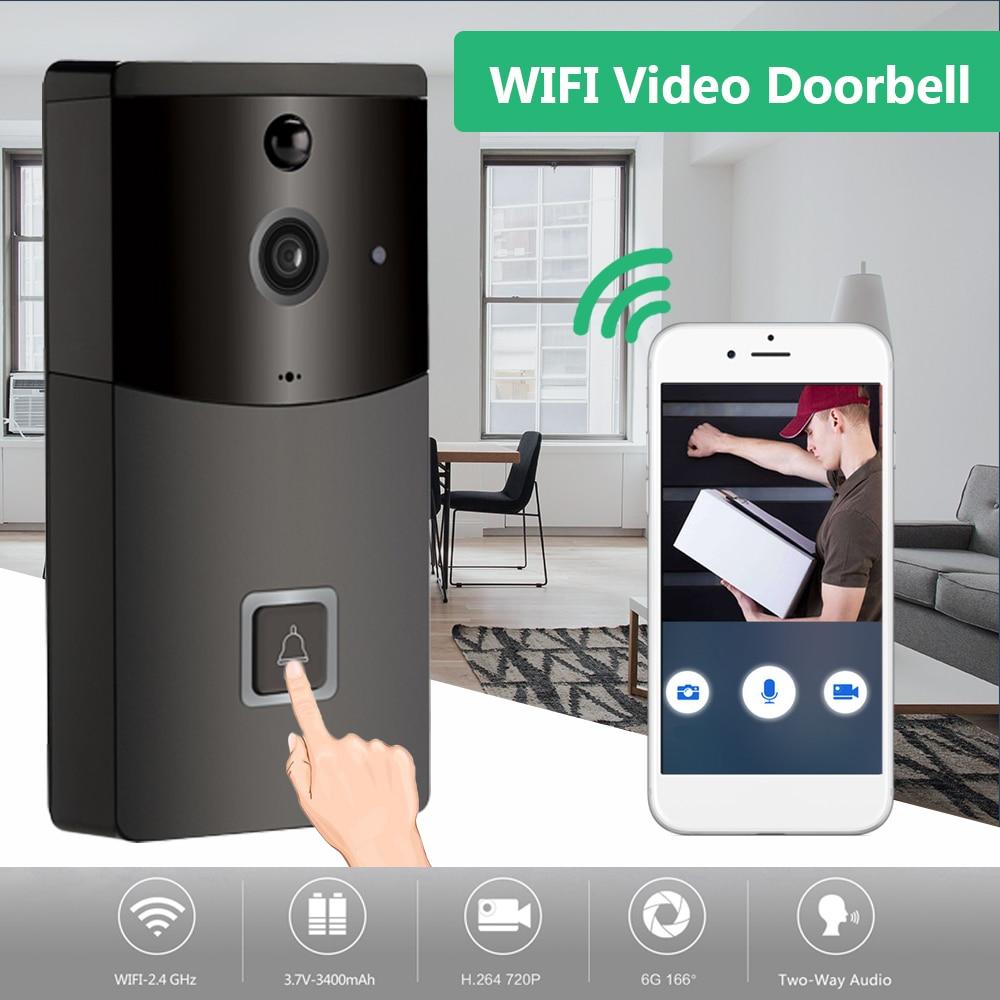 2,4 Ghz Wifi Video Türklingel Hd 720 P Kamera Smart Lautsprecher Nacht Vison Motion Detetion Wake-up Für Ios /android Betrachtung
