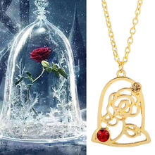 Flower Necklace Women Jewelry Beauty-And-The-Beast Charms Choker Rose Bohemian for Mom